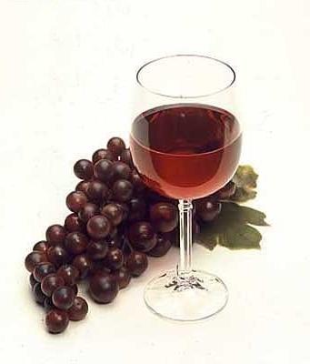 verre vin raisin